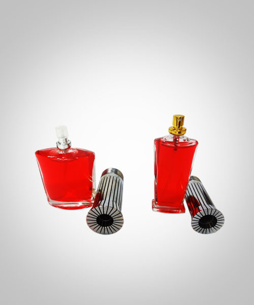 Perfume bottles with crimping collars