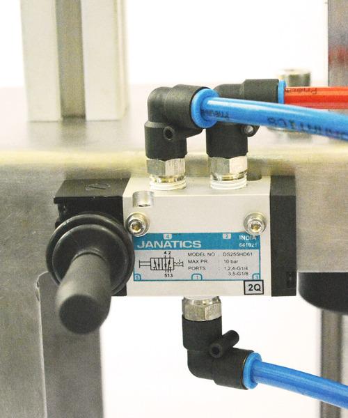 Close-up of pneumatic valve